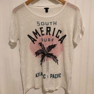 J. Crew South America Surf linen tshirt M